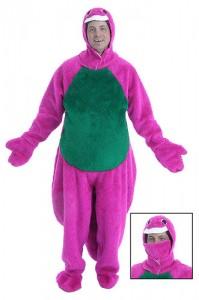 Barney Adult Costume