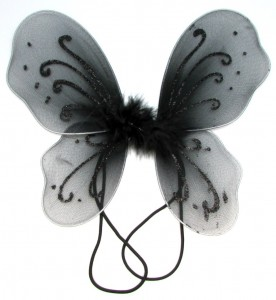 Black Butterfly Wings Costume