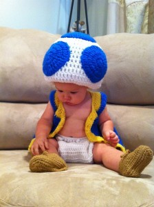 Blue Toad Costume