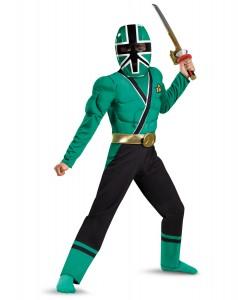Boys Green Power Ranger Costume