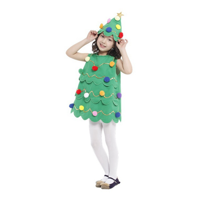 Christmas tree costumes for men women kids parties costume