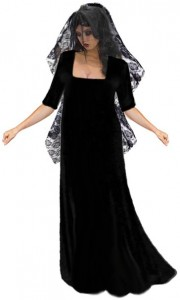 Dead Bride Costume Black Dress