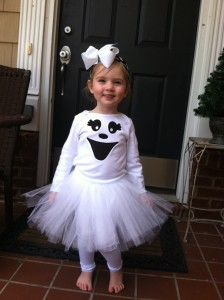 Easy Toddler Ghost Costume