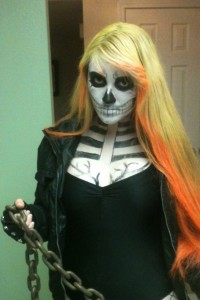 Ghost Rider Costume Girl