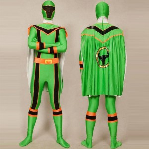 Green Power Ranger Costume Adults