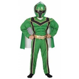 Green Power Ranger Costume Kids