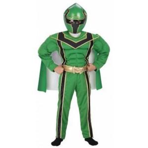 Green Power Ranger Costume Kids