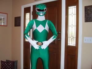 Green Power Ranger Kids Costume