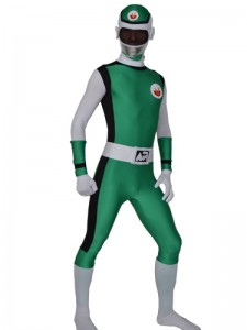 Green Power Rangers Costume