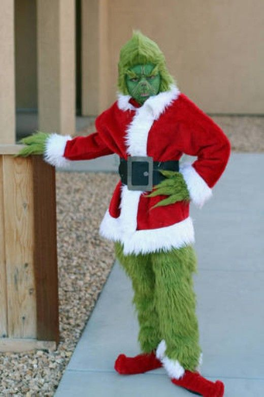Grinch Costume for Adults & Grinch Costumes (for Men Women Kids)   Parties Costume