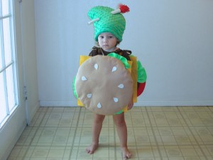 Hamburger Costume Baby