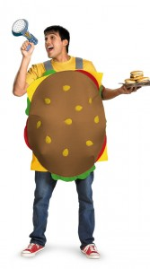 Hamburger Costume for Adults