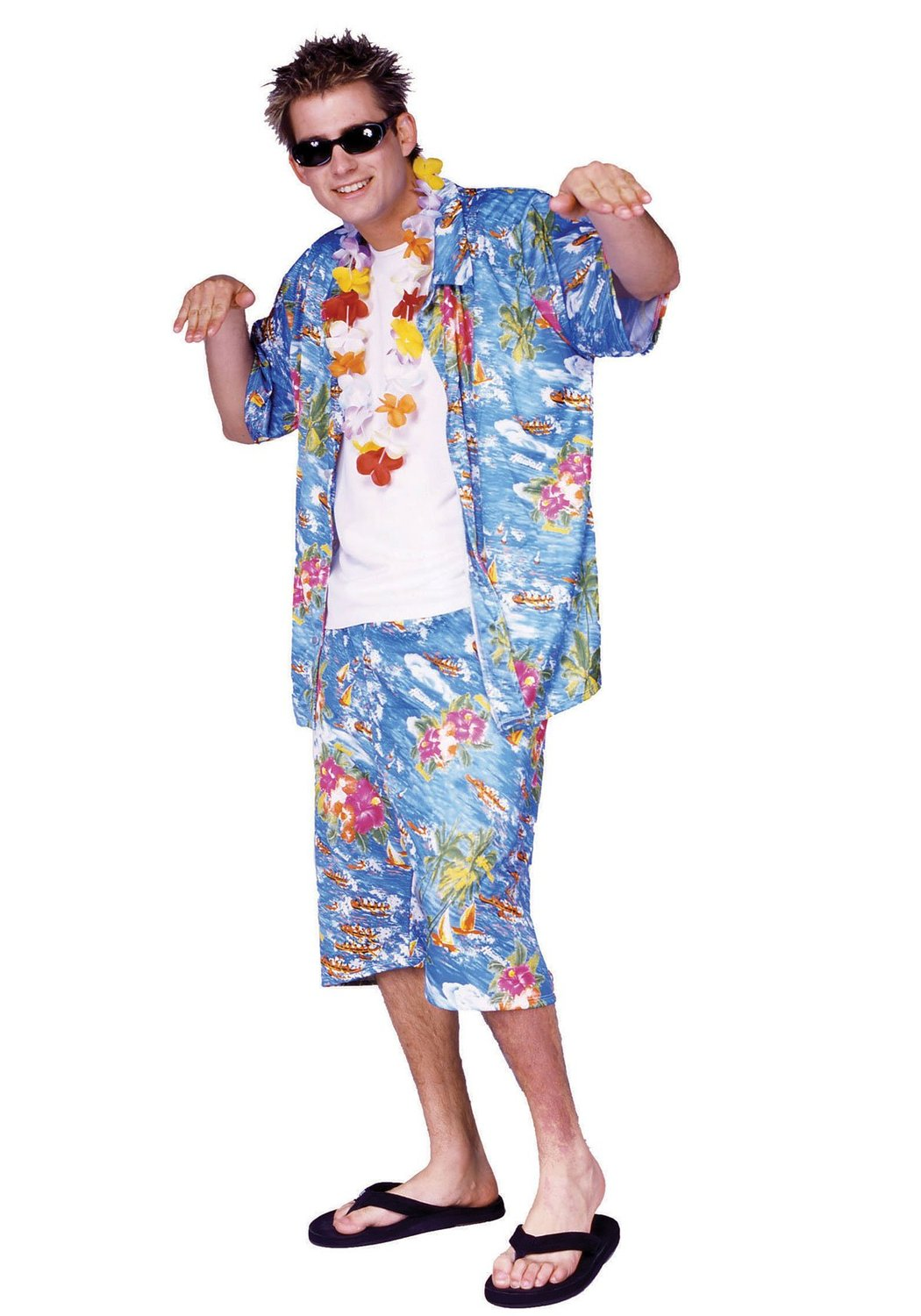 Hawaiian Costumes (for Men, Women, Kids) | PartiesCostume.com