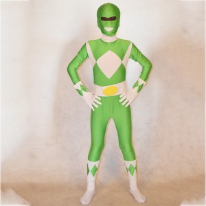 Kids Green Power Ranger Costume