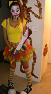 Killer Clown Costume Girl