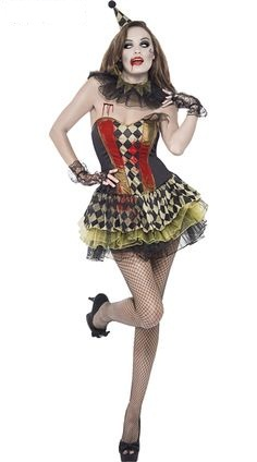 Killer Clown Halloween Costumes For Girls.Cute Clown Halloween Costumes Girls Teen Cool Clown Costume Circus