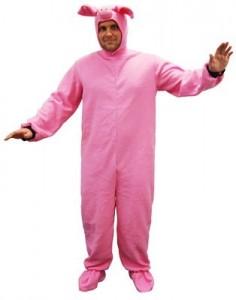 Mens Piglet Costume