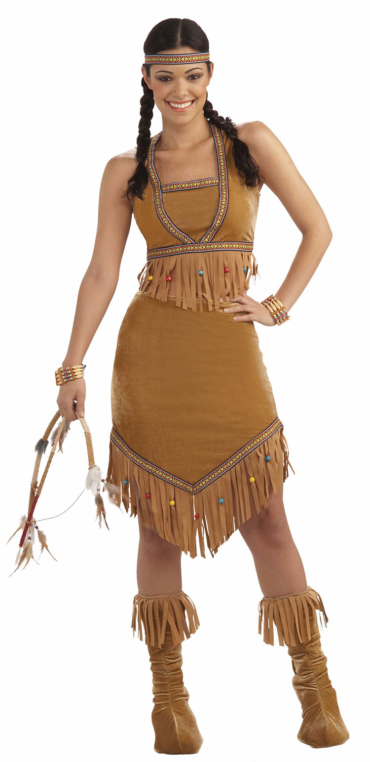 Awesome Womens Cherokee Indian Princess Native American Tribal Halloween Party Costume | EBay