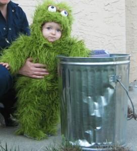 Oscar the Grouch Costume Infant