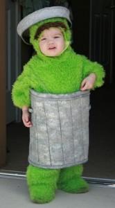 Oscar the Grouch Costume Kids