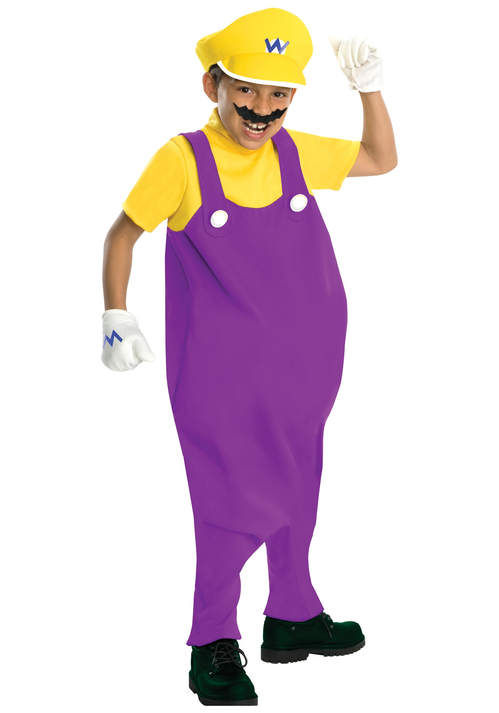 Waluigi Costumes (for Men, Women, Kids) | PartiesCostume.com Wario And Waluigi Costumes