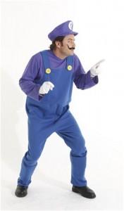 Waluigi Costume Mens
