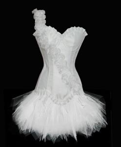 White Burlesque Costume