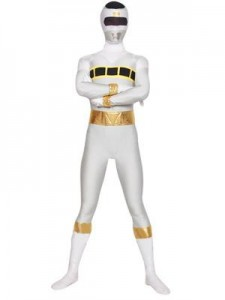 White Power Ranger Costume Adult
