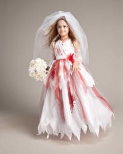 Zombie Bride Costume Girls