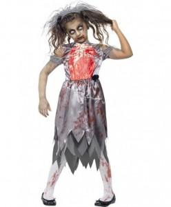 Zombie Bride Costume Kids