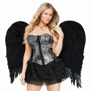 Black Angel Costume Wings