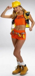 Construction Worker Costume Girl