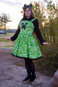 Minecraft Creeper Costume for Girls