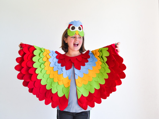 Parrot Costumes Men Women Kids Parties Costume