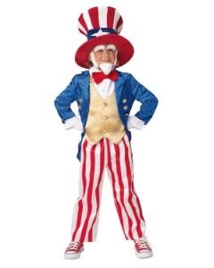 Uncle Sam Costume Boys