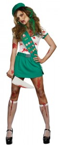 Zombie Hunter Costume for Girls