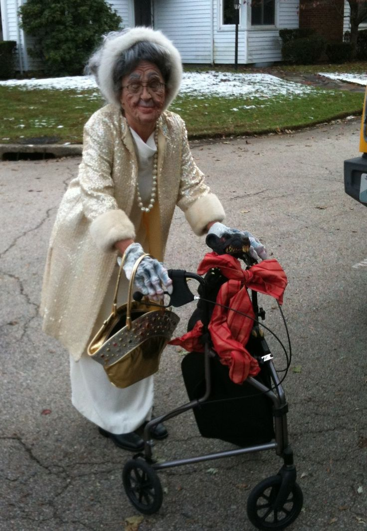 Old Lady Halloween Costumes & Old Lady Grandma Baby Costume