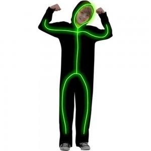 Glowing Stick Figure Costume