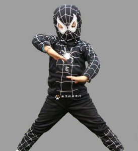 Black Spiderman Costume Child