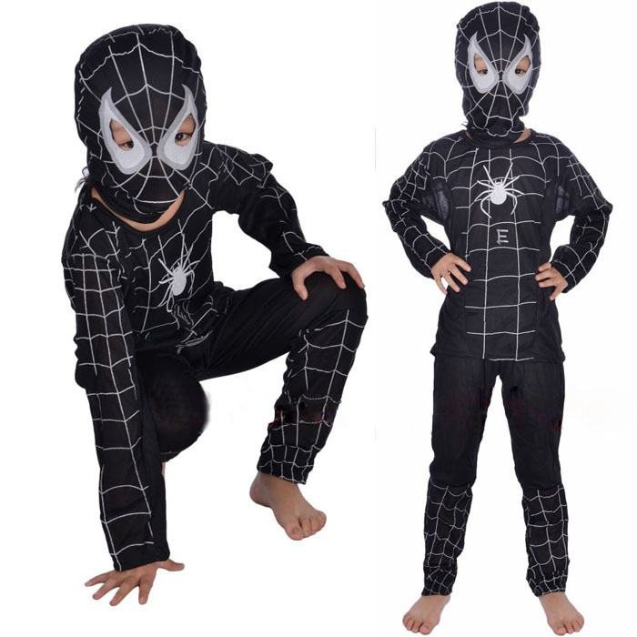 These kids Spiderman costumes come in many different styles and sizes. With infant and toddler sizes and reversible and black Spiderman styles for Halloween.