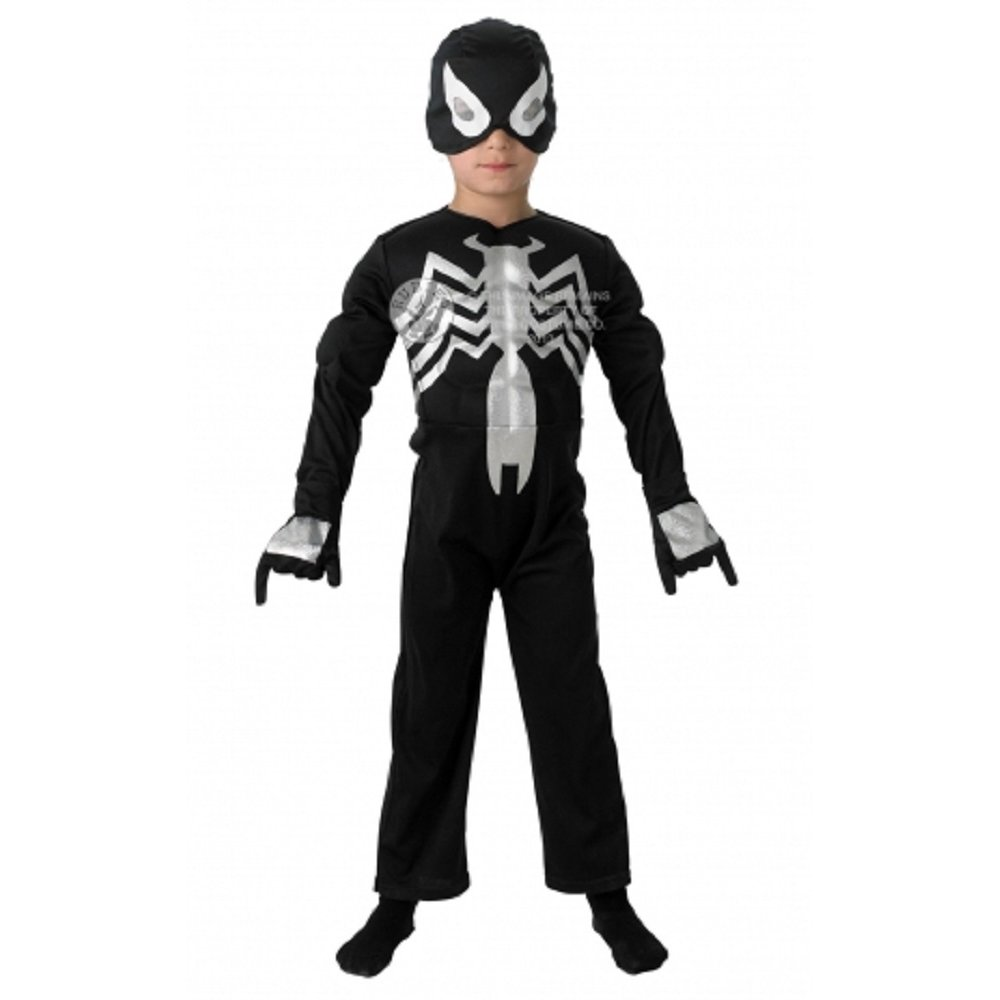From to , Spider-Man wore a black costume with a white spider design on his chest. The new costume originated in the Secret Wars limited series, on an alien planet where Spider-Man participates in a battle between Earth's major superheroes and villains.