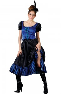 Blue Saloon Girl Costume