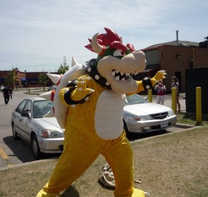 Bowser Mascot Costume