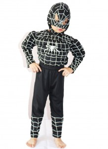 Boys Black Spiderman Costume