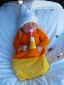 Candy Corn Costume for Baby