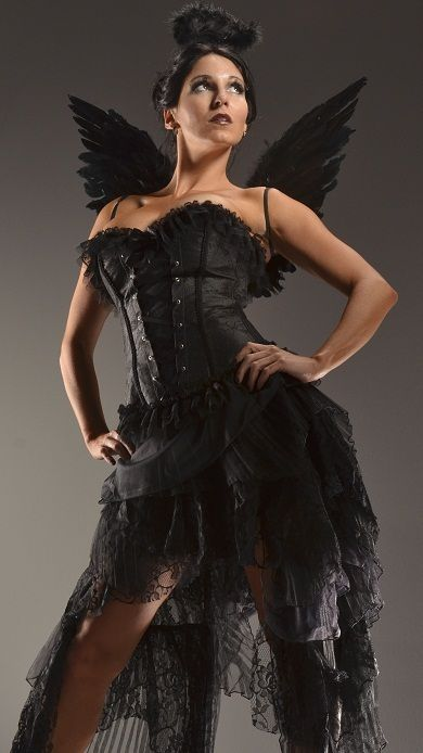 Charming Dark Angel Halloween Costumes