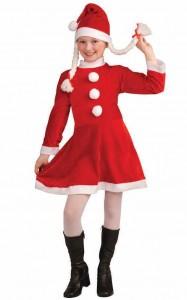 Girls Mrs Claus Costume