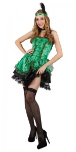 Green Saloon Girl Costume