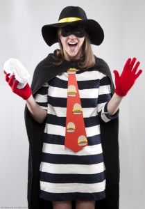 Hamburglar Costume Girl