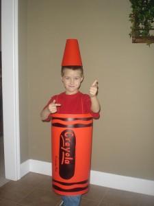 Homemade Crayon Costume